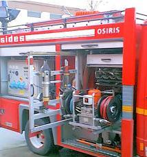 Lors d'un accident de la circulation, les pompiers arrivent avec un véhicule ?