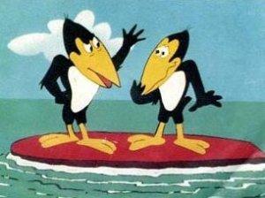 Comment s'appelle ces 2 corbeaux farceurs ?